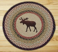 Moose Braided Jute Round Rug, by Capitol Earth Rugs. - The ...
