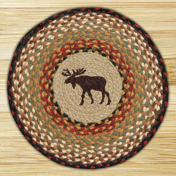 Moose Braided Jute Chair Pad Capitol Earth Rugs. - Weed Patch