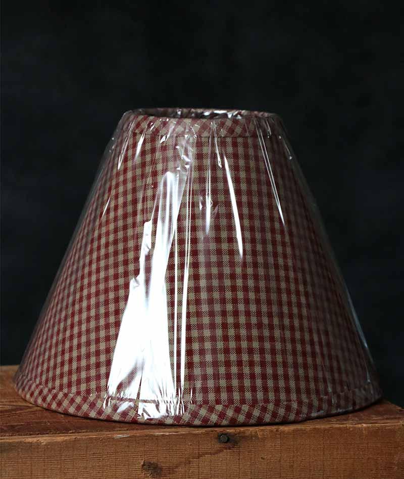 10 inch Newbury Red Gingham Lamp Shade, by Raghu.