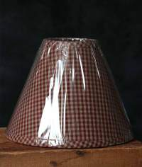 10 inch Newbury Red Gingham Lamp Shade, by Raghu.