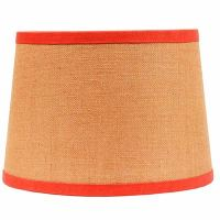 10 inch Burlap Drum Lamp Shade with Orange Trim, by Raghu ...