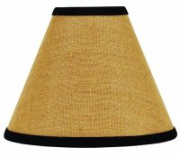 12 inch Burlap Black Lamp Shade, by Raghu - The Weed Patch