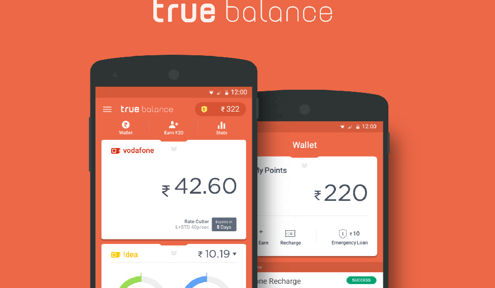 True Balance An app that helps manage data voice balance