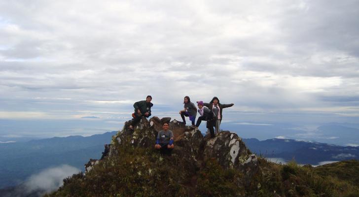 Mt Apo trek - at the peak