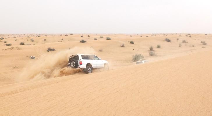 Dubai desert safari - sand bashing