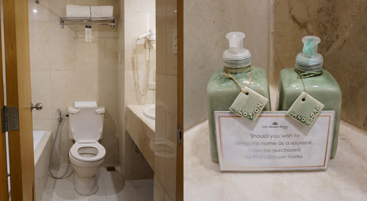 City Garden Suites Manila - toilet and bath