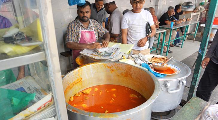 Roti Canai at Transfer Road - curry