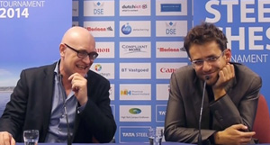 Press chief Tom Bottema with Levon Aronian.