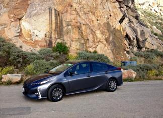 The 2017 Toyota Prius Prime Hybrid: Dominated by sharp-angled exterior design.