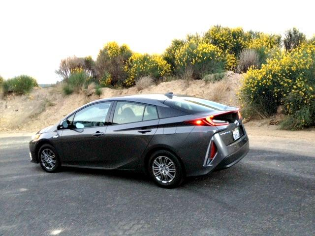 2017 Tour Prius Prime: Stopping to look at the wildflowers on the downhill drive from Big Bear Lake to Ontario, California.