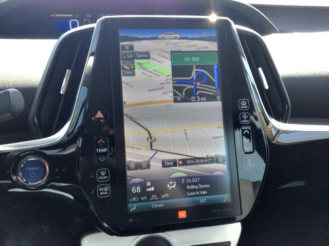 The 2017 Toyota Prius Prime has an 11.6-inch vertically positioned infotainment center.