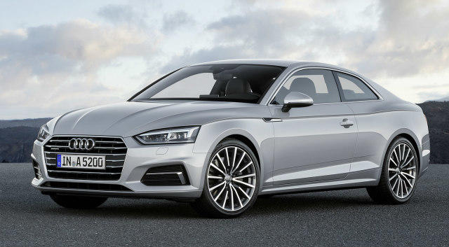 The 2018 Audi A5 coupe is newly designed inside and outside.