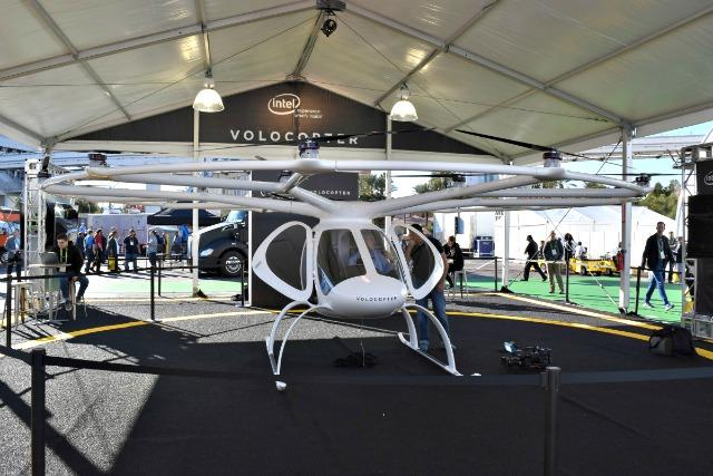 The future of autonomous helicopters was on display at the Consumer Electronics Show.