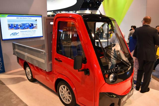 Several companies displayed autonomous and electric utility vehicles.