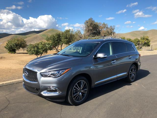 The 2018 Infiniti QX60 has a stylish exterior with the exception of the oddly shaped front grille.