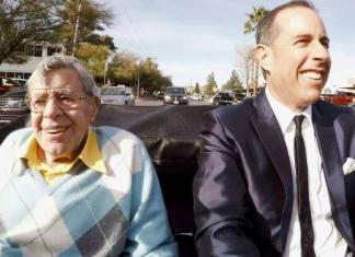 Jerry Lewis is the first guest of Jerry Seinfeld in the opening episode of the 10h season of Comedians in cars Getting Coffee.