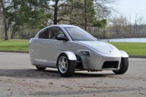 The Elio is a three-wheel vehicle scheduled to debut in the United States in early 2015.