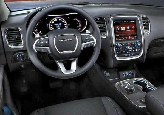 Interior, 2014 Dodge Durango.