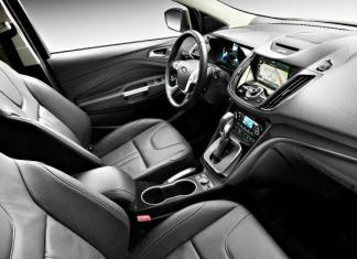 The 2014 Ford Escape has a straightforward interior.