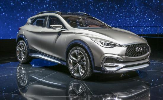 The Infiniti concept crossover will debut at the 2015 LA Auto Show.