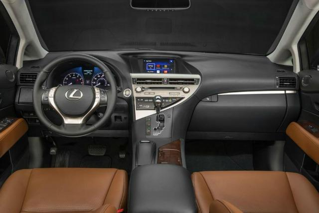 The plush interior of the Lexus RX 350.