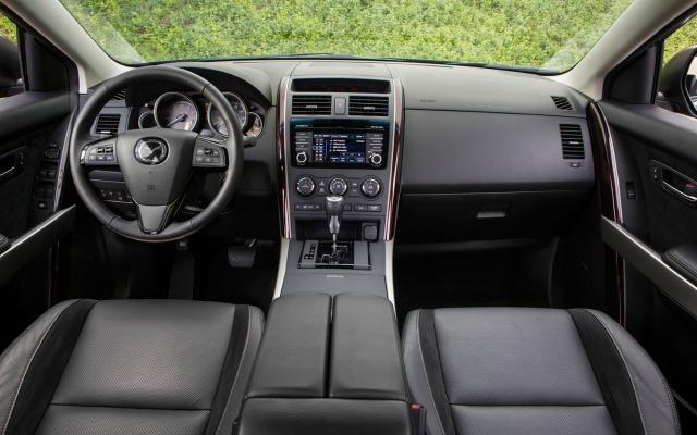 The 2015 Mazda CX-9 has a modern interior design and three-row seating.