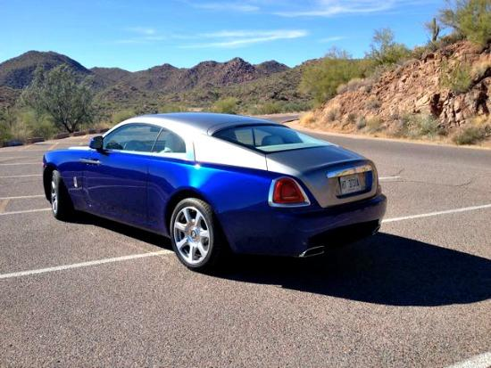 The 2014 Rolls Royce Wraith is the most powerful and fastest car the manufacturer has ever made.