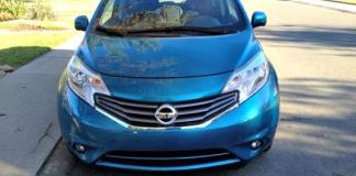 The 2014 Nissan Versa Note has huge front headlights.