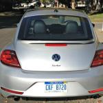 The 2014 Volkswagen Beetle's trunk looks small but has good cargo space.