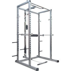 Merax Athletics Fitness Power Rack Olympic Squat Cage with Lat Pull Attachment