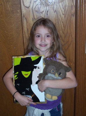 Saw WICKED first time in 3rd grade! It was my weekend to take the class pet home too--we both enjoyed the show!