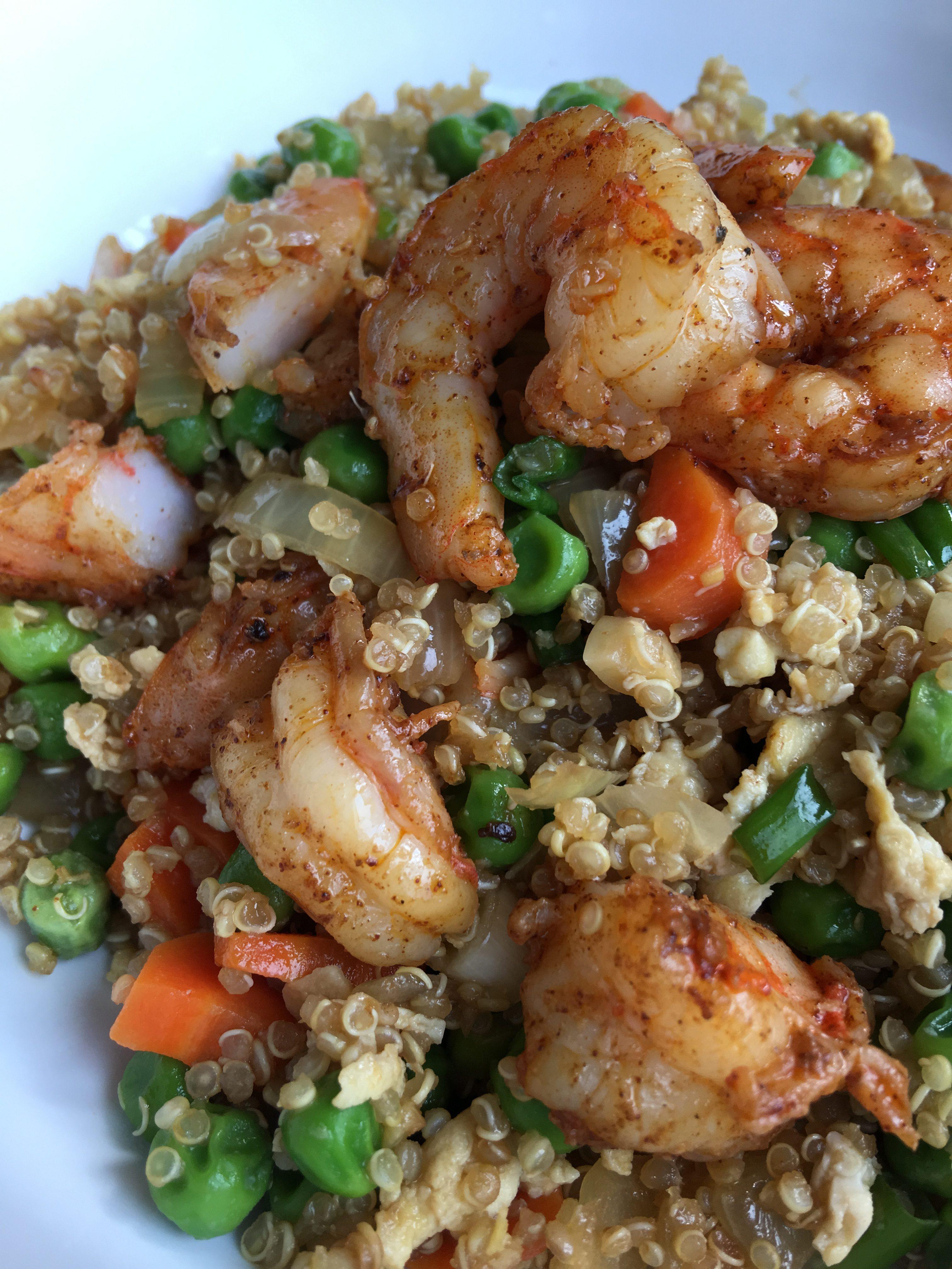 Shrimp Quinoa Fried Rice