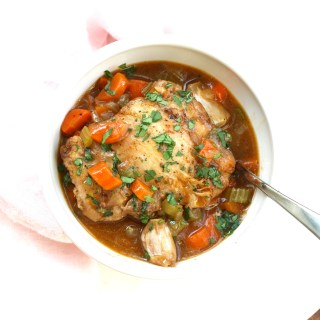 French Chicken Stew with Plenty of Garlic