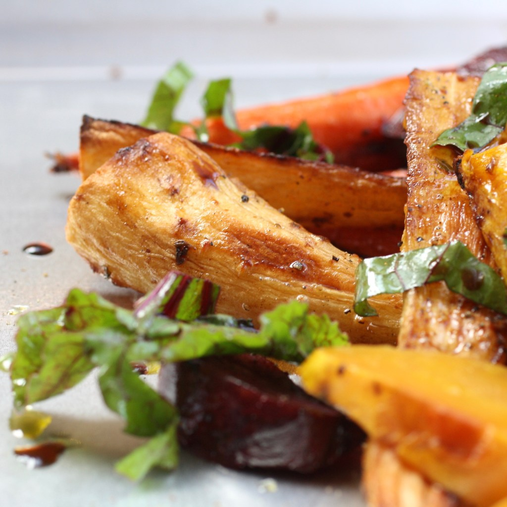 Roasted Root Vegetables with Balsamic Dressing
