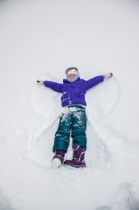 Snow angel for the bean.