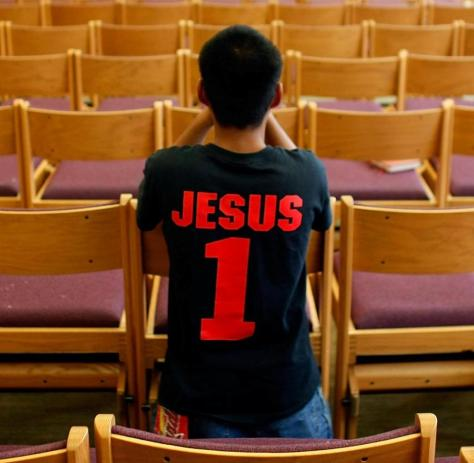 Florida: Prayers with the matching shirt at the private Catholic University of Ave Maria