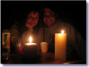 power outage blackout candles 300x227 Hurricane Sandy Destroys Republican Ideology