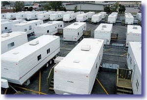 fema trailers 300x204 How A Real President Responds To Crisis