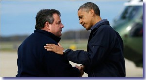obama meets christie 300x165 How A Real President Responds To Crisis