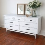 Painted Furniture White Mid Century Modern Credenza The