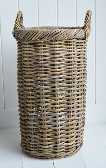 Casco Bay Grey willow umbrella stand from The White Lighthouse