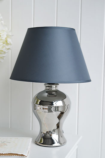 White bedside lamp with shade  The White Lighthouse