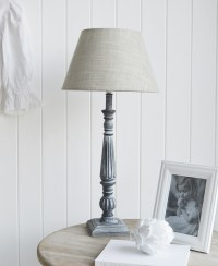 Regency Tall Grey Table Lamp - The White Lighthouse