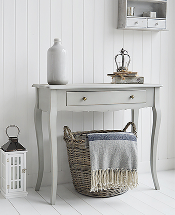 New Hampshire Grey Console Table For New England Hallway