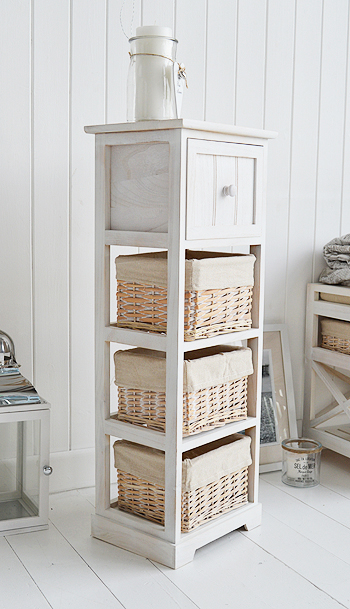 Cape Cod Slim White Bedroom Storage Furniture With 4 Drawers The White Lighthouse Bedroom Furniture