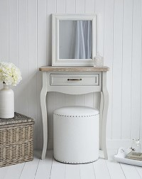 Bridgeport small grey dressing table - The White ...