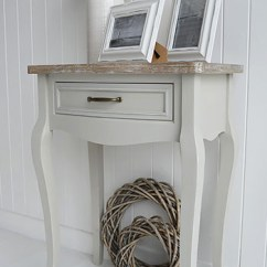 Wood Side Tables Living Room Decorating Ideas Light Green Walls Bridgeport Small Grey Dressing Table - The White ...