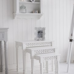 White Living Room Side Table Oversized Mirrors The Lighthouse Furniture Nest Of 3 Tables Image Shows Three In A Setting