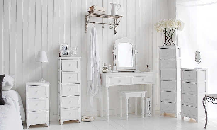 maine tall slim white chest of 5 drawers bedroom furniture