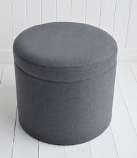Westhampton grey storage dressing table stool